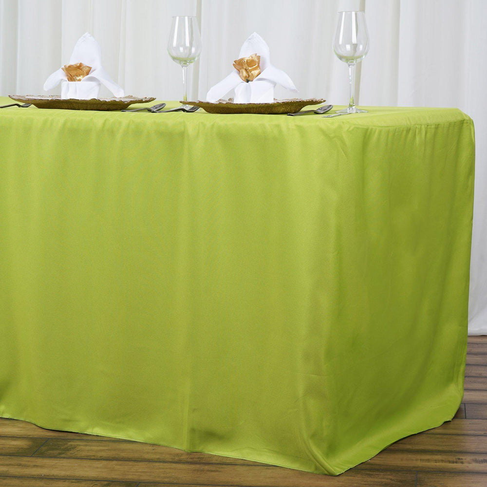 8ft Fitted Sage Wholesale Polyester Table Cover Wedding