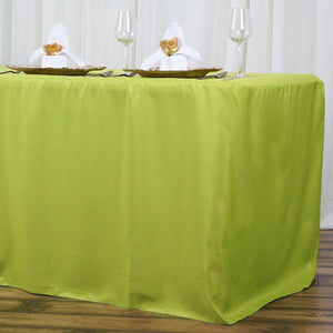 8FT Fitted SAGE Wholesale Polyester Table Cover Wedding Banquet Event Tablecloth