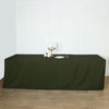 8FT Moss Green Fitted Polyester Rectangular Table Cover