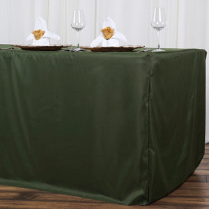 8FT Fitted WILLOW GREEN Wholesale Polyester Table Cover Wedding Banquet Event Tablecloth