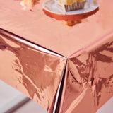 Metallic Foil Square Tablecloth, Disposable Table Cover#whtbkgd