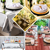 Metallic Foil Square Tablecloth, Disposable Table Cover