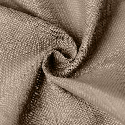 120 Taupe Linen Round Tablecloth | Slubby Textured Wrinkle Resistant Tablecloth