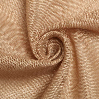 120 inch Natural Premium Faux Linen Round Tablecloth