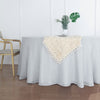 "120"" Silver Linen Round Tablecloth, Slubby Textured Wrinkle Resistant Tablecloth"