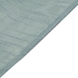 60x126 Dusty Blue Linen Rectangular Tablecloth, Slubby Textured Wrinkle Resistant Tablecloth