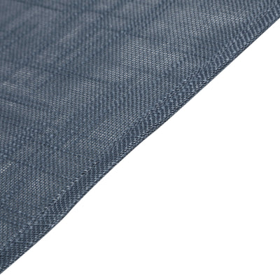 60x126 Blue Linen Rectangular Tablecloth, Slubby Textured Wrinkle Resistant Tablecloth