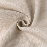 90x132 Beige Linen Rectangular Tablecloth | Slubby Textured Wrinkle Resistant Tablecloth