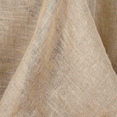 "90x132"" Rectangle Rustic Burlap Tablecloth - Natural Tone"