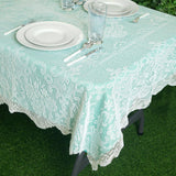"54""x72"" Premium Lace Ivory Rectangular Oblong Tablecloth"