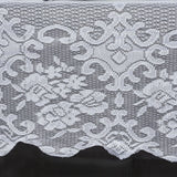 "White Floral Lace Tablecloth For Banquet Party Wedding Event  Home Decoration - 60"" x 126"""