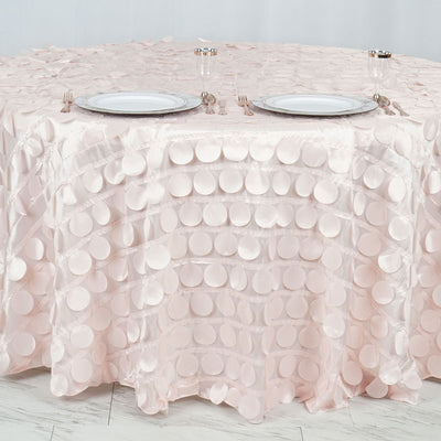 "120"" Blush / Rose Gold Round Flamingo Petals Tablecloth"