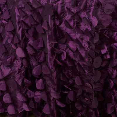 "120"" Fancy EGGPLANT Wholesale Taffeta Round Petal Tablecloth For Wedding Catering Event Party Linens"