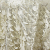 "120"" Fancy IVORY Wholesale Taffeta Round Petal Tablecloth For Wedding Catering Event Party Linens"