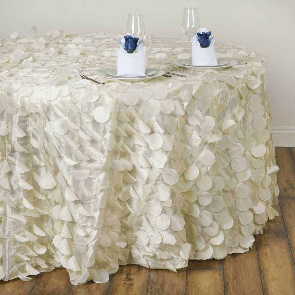 120 Quot Ivory Round Flamingo Petals Tablecloth Tablecloths