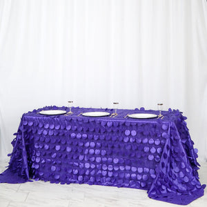 "90x132"" Purple Flamingo Petals Taffeta Rectangle Tablecloth 