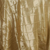 "108"" Round Tablecloth Pintuck - Champagne"