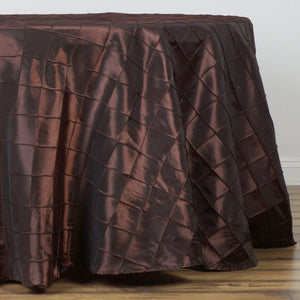 "108"" Round Tablecloth Pintuck - Chocolate"