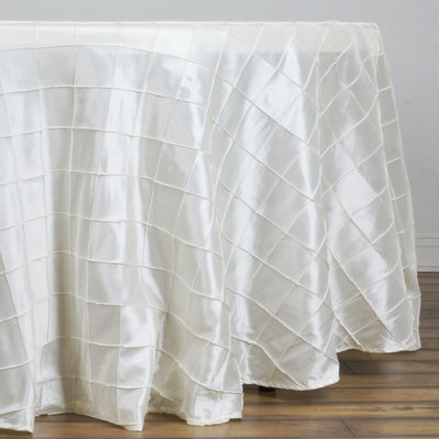 "108"" Round Tablecloth Pintuck - Ivory"