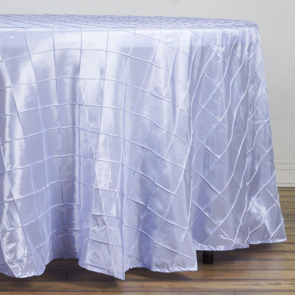 "108"" Lavender Round Pintuck Tablecloth - Clearance SALE"