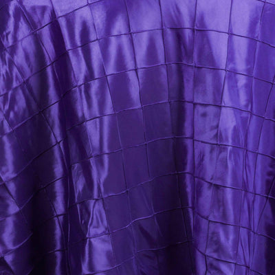 "108"" Round Tablecloth Pintuck - Purple"