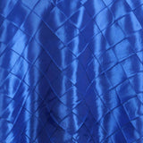 "108"" Round Tablecloth Pintuck - Royal Blue"