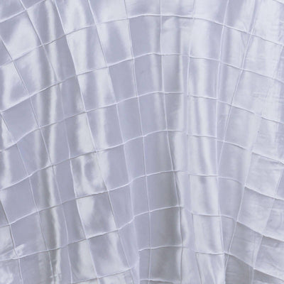 "108"" Round Tablecloth Pintuck - White"