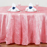 "120"" Round Tablecloth Pintuck - Rose Quart"