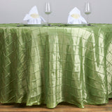 "120"" Round Tablecloth Pintuck - Apple Green"