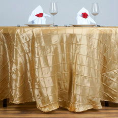 "120"" Round Tablecloth Pintuck - Champagne"