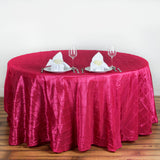 "120"" Fushia Pintuck Round Tablecloth"