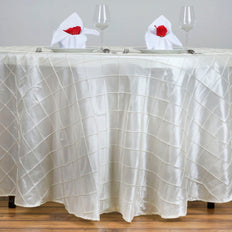 "120"" Round Tablecloth Pintuck - Ivory"