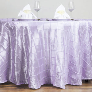 "120"" Round Tablecloth Pintuck - Lavender"