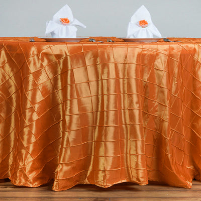 "120"" Round Tablecloth Pintuck - Orang"