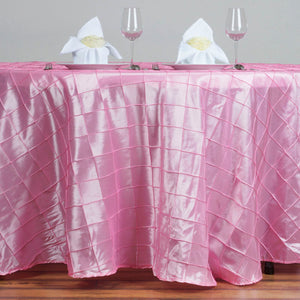 "120"" Round Tablecloth Pintuck - Pink"