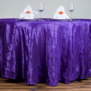 "120"" Round Tablecloth Pintuck - Purple"