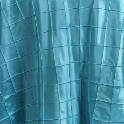 120 Round Tablecloth Pintuck - Turquoise