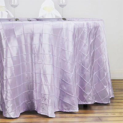 "132"" Round Tablecloth Pintuck - Lavender"