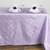 Lavender Pintuck Tablecloth 90x132""