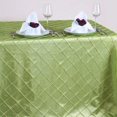 "Apple Green 90x156"" Pintuck Tablecloths"