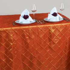 "Orange 90x156"" Pintuck Tablecloths"