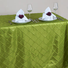 Sage Pintuck Tablecloth 90x156""
