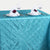 Turquoise Pintuck Tablecloth 90x156""