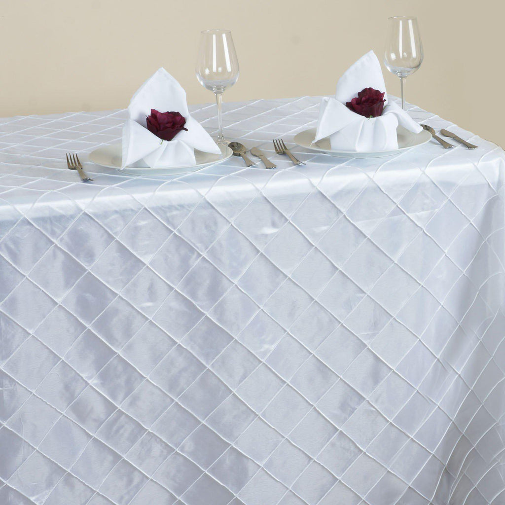 White Pintuck Tablecloth 90x156 Quot Tablecloths Factory