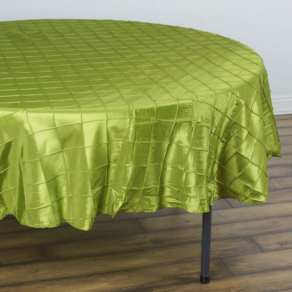 90 Quot Sage Green Pintuck Taffeta Round Tablecloth
