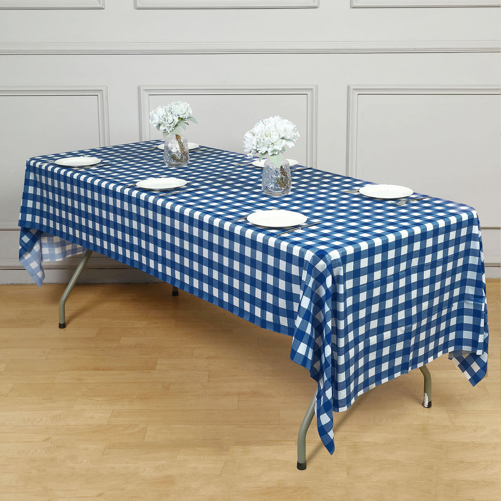 Buffalo Plaid Tablecloths 54 Quot X 108 Quot Rectangular White