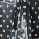 "54"" x 108"" Disposable Polka Dots Plastic Vinyl Picnic Birthday Party Home Tablecloth - Black/White"