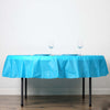 "84"" Turquoise 10 Mil Thick Crushed Design Waterproof Tablecloth PVC Round Disposable Tablecloth"