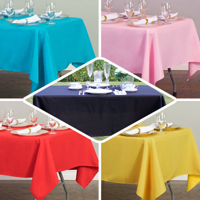 "54"" x 108"" Silver 10mil Thick Disposable Plastic Vinyl Rectangular Tablecloth"
