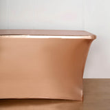 6FT Metallic Blush Rectangular Stretch Spandex Table Cover
